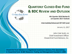 cef-and-bdc-review-and-outlook-for-4th-quarter-2016